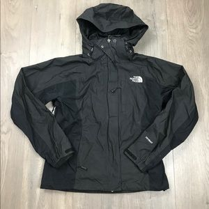 The North Face Black Hyvent Rain Jacket XS